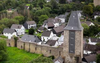 Stadt Blankenberg/Hennef aus der Vogelperspektive